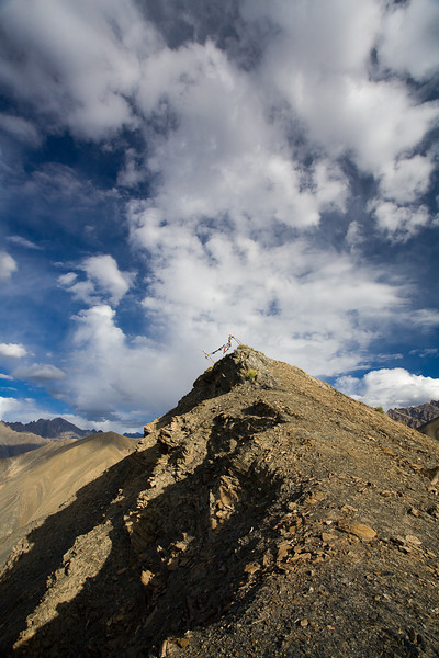 Prayer flags on summit, Ladakh