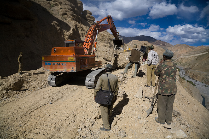 Road work east of Kargil, Ladakh