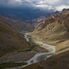 Ascending the Lachlung La Pass above the Tsarap River, Ladakh