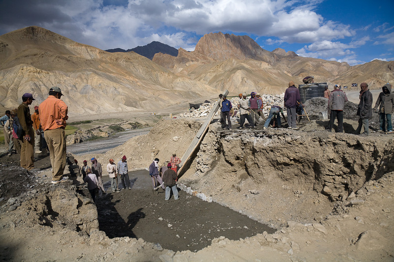 Road work on the Leh-Kargil road, Ladakh