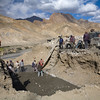 Road work on the Leh-Kargil road, Ladakh