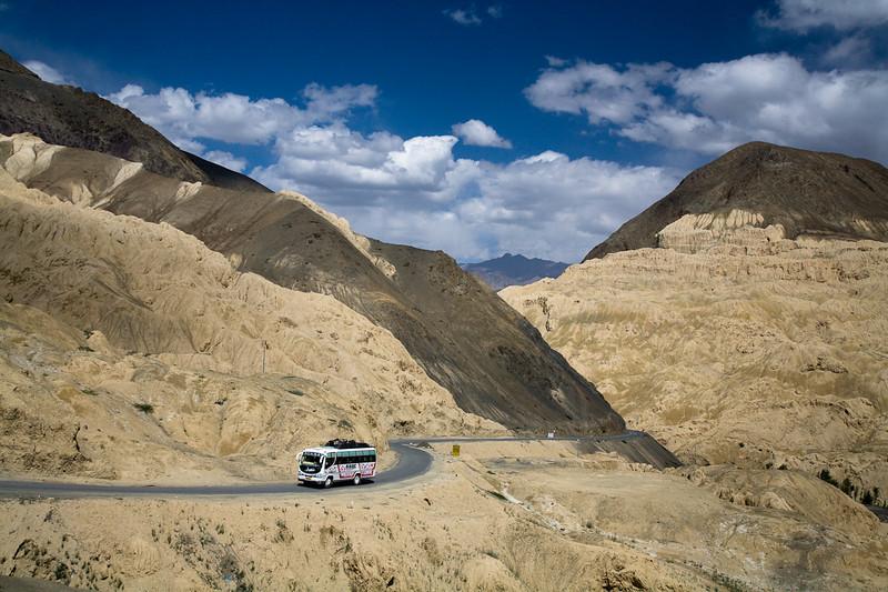 Moon landscape east of Lamayuru, Ladakh