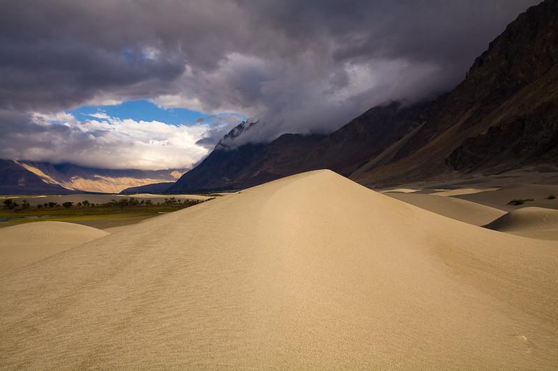Sand dunes in the Nubra Valley near Hundar, Ladakh