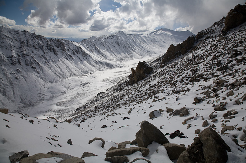 View west from the Khardung La, Ladakh