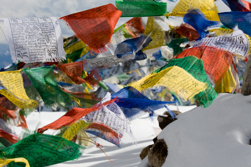 Prayer flags, Khardung La, Ladakh