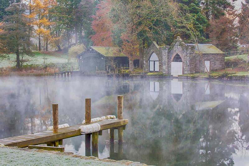 Misty Boathouse