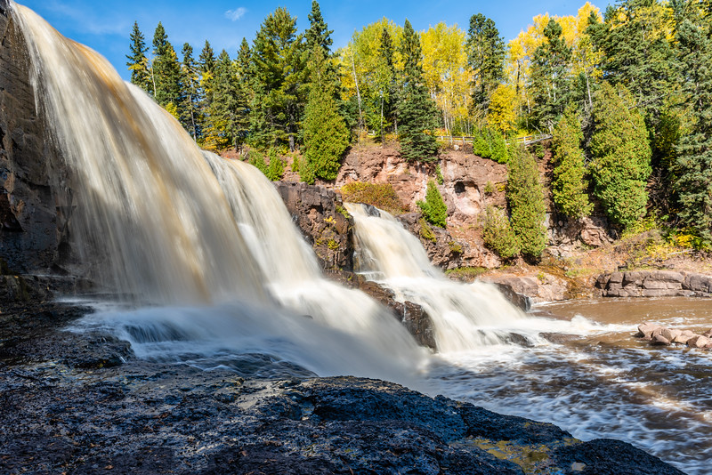 Milky Waters of the Middle Gooseberry Falls