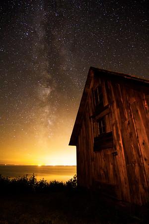 Stony Point, Milky Way and Shack