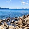 Mountain Lined Lake Tahoe
