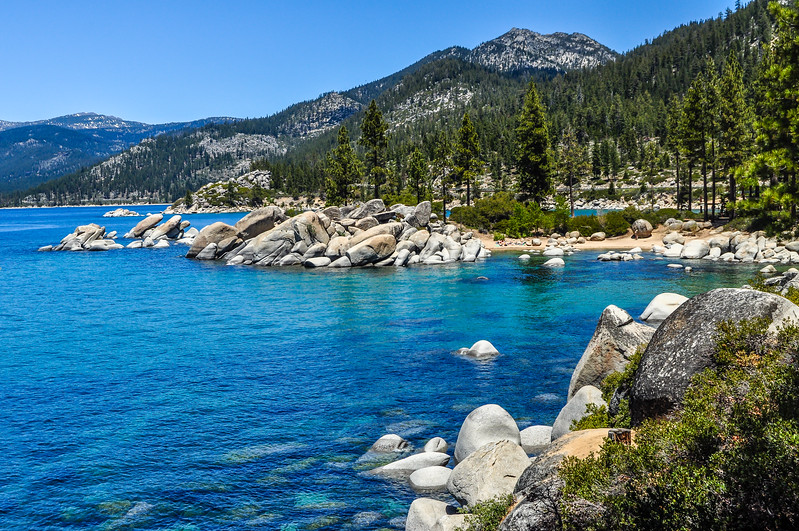 Deep Blue Waters of Lake Tahoe