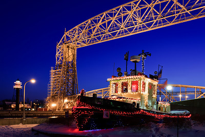 Bayfield Tug in Lights