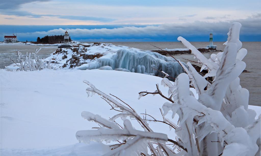 Winter Storm Sculptures - Grand Marais