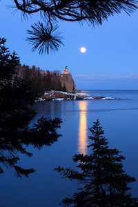 Pine and Moonlight - Split Rock Lighthouse