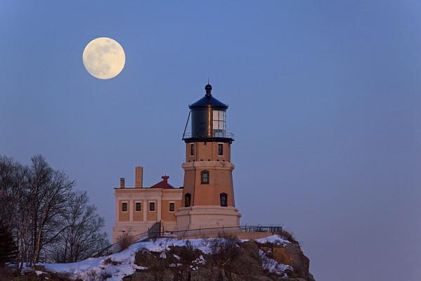 Full Snow Moon - Split Rock Lighthouse