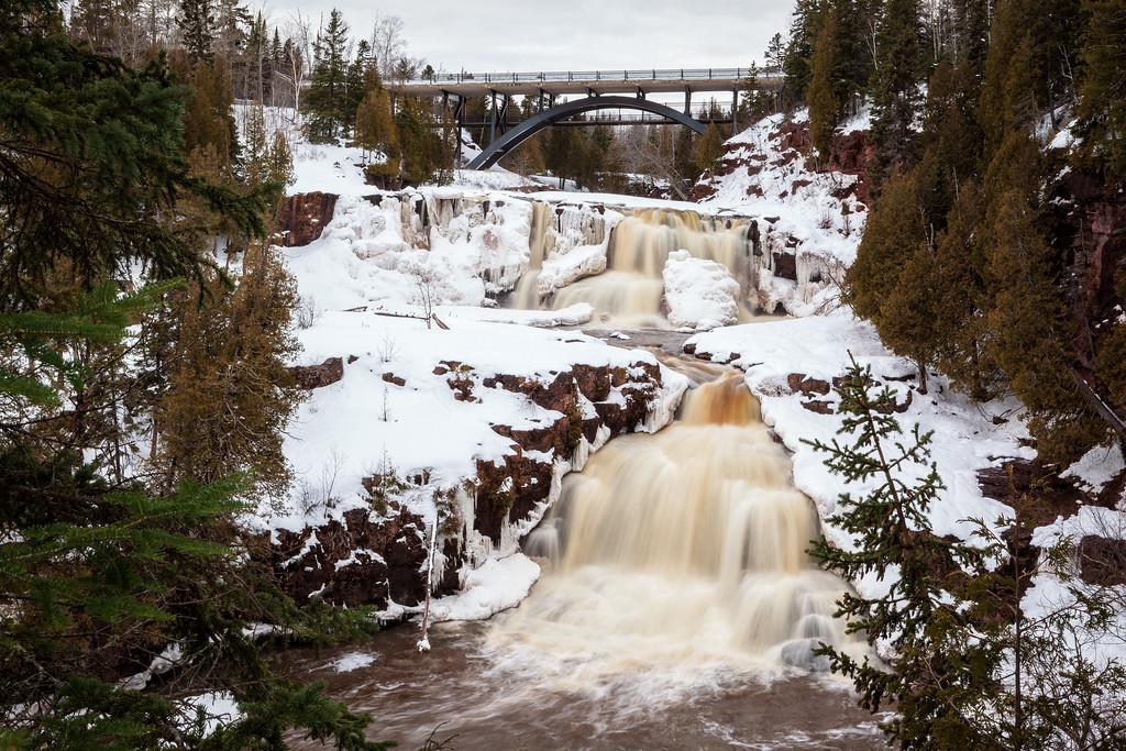 Waterfalls in White