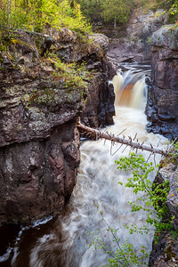 Falls and Spiked Bridge - Temperance River