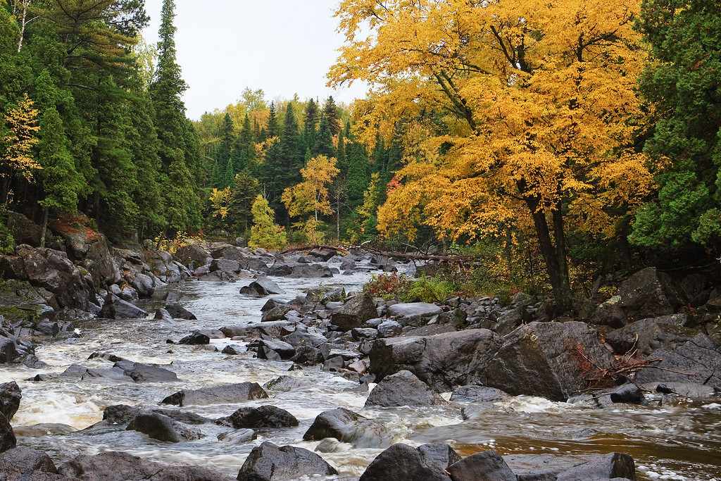 Autumn at the Rapids - Beaver River