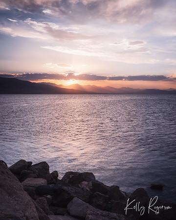 Utah Lake at Sunset