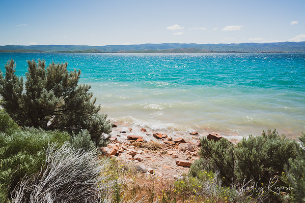 Midday at Bear Lake, Utah.