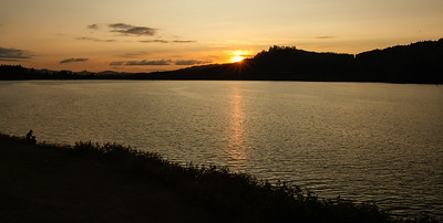 Sunset over Foster Lake