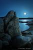 Full moon on Folsom Lake