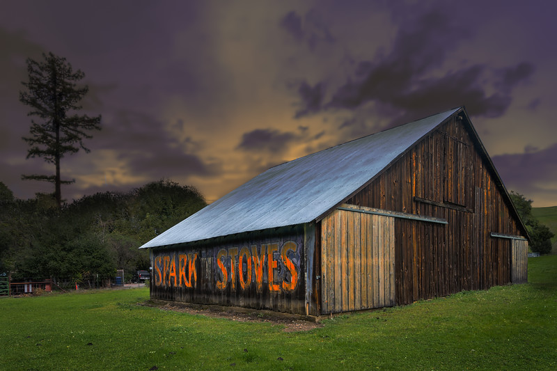 Spark Stoves Barn Art
