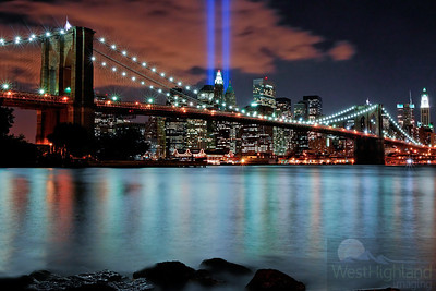 9//1 Lights from Brooklyn side looking into downtown Manhattan