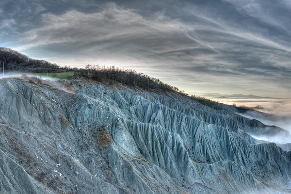 Badlands - Canossa, Reggio Emilia, Italy - December 21, 2014