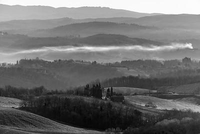 Siena Hills - San Gimignano, Siena, Italy - March 25, 2016
