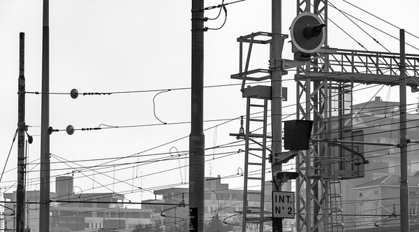 Railway Wires - Reggio Emilia, Italy - February 9, 2019