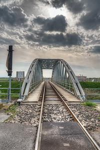 Railway Bridge - Guastalla, Reggio Emilia, Italy - April 8, 2018