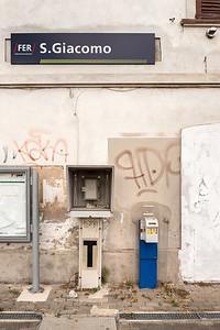 Train Station - San Giacomo, Guastalla, Reggio Emilia, Italy - July 22, 2018