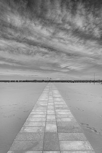 Boardwalk - Porto Garibaldi, Comacchio, Ferrara, Italy - May 24, 2020
