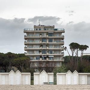 Bathing Sheds - Milano Marittima, Cervia, Ravenna, Italy - April 26, 2019