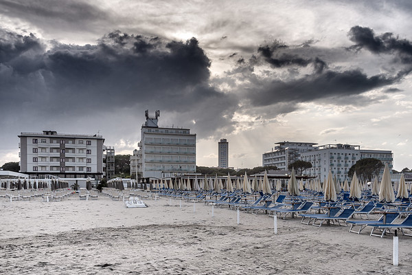 Empty Beach - Milano Marittima, Cervia, Ravenna, Italy - April 24, 2019