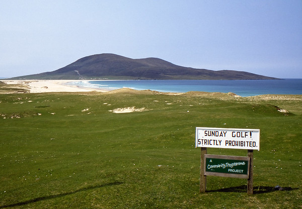 No Sunday Golf - Scarista Golf Course, Isle of Harris Golf Club, Scotland, UK - May 22, 1989