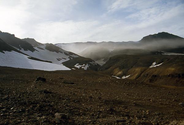 Approaching the Mutnovsky Volcano - Kamchatka, Russian Federation - Summer 1993
