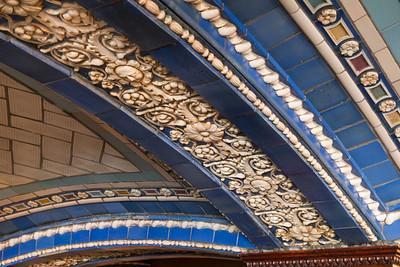 Ceiling of Della Robbia Bar