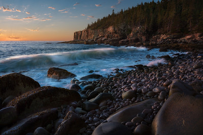 "At Acadia National Park right before Otter Cliff in a ""hidden"" cove commonly known as Boulder Beach"