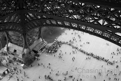 A Busy Day at the Eiffel Tower