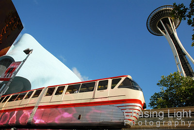 Monorail with the Space Needle