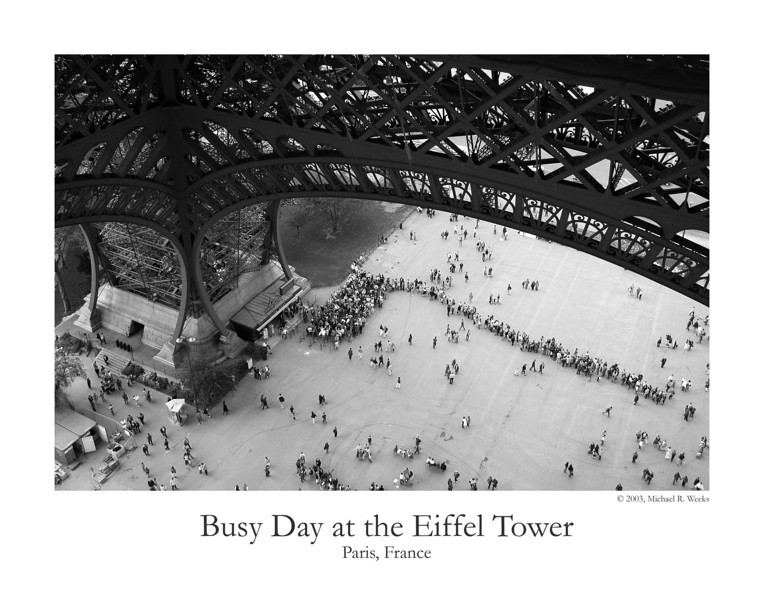 Busy Day at the Eiffel Tower