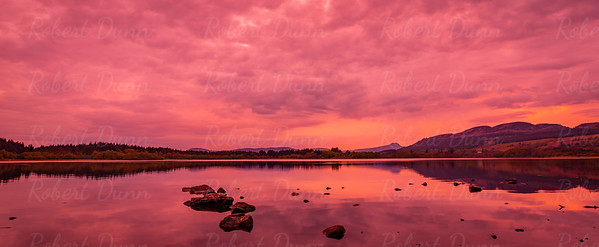 Lake of Menteith after sunset