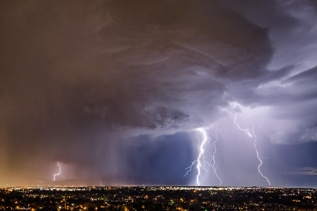 Storm Cell Over Utah County