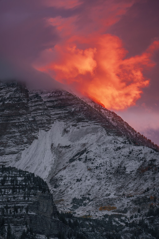 Snowy Mountain Ablaze