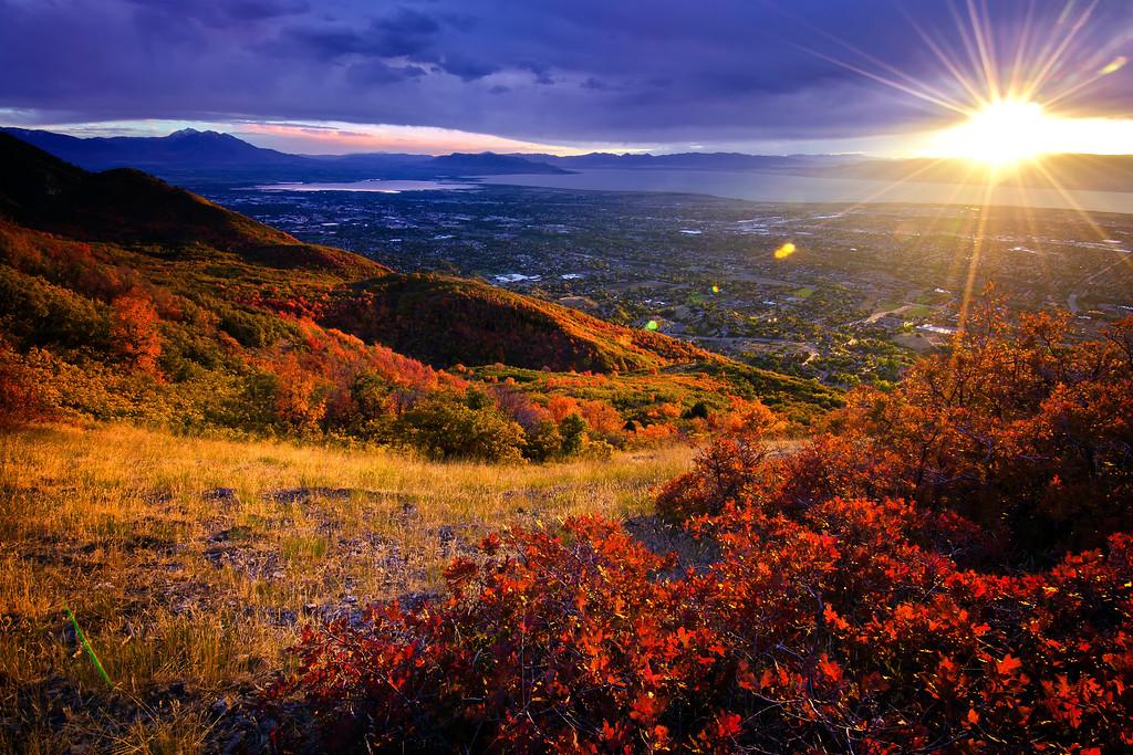 Autumn Sunset over Utah Valley