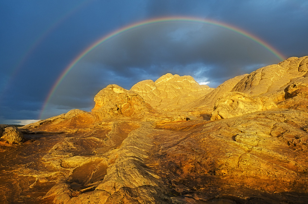 Golden Rock Double Rainbow