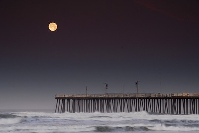 Full Moon, Pismo Beach  Pier