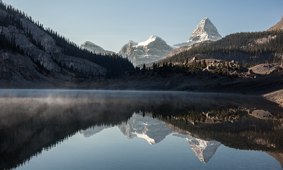 Mount Assiniboine reflection in Og Lake