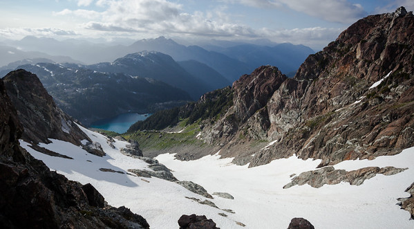 View of Cream Lake from Mount Septimus, Vancouver Island